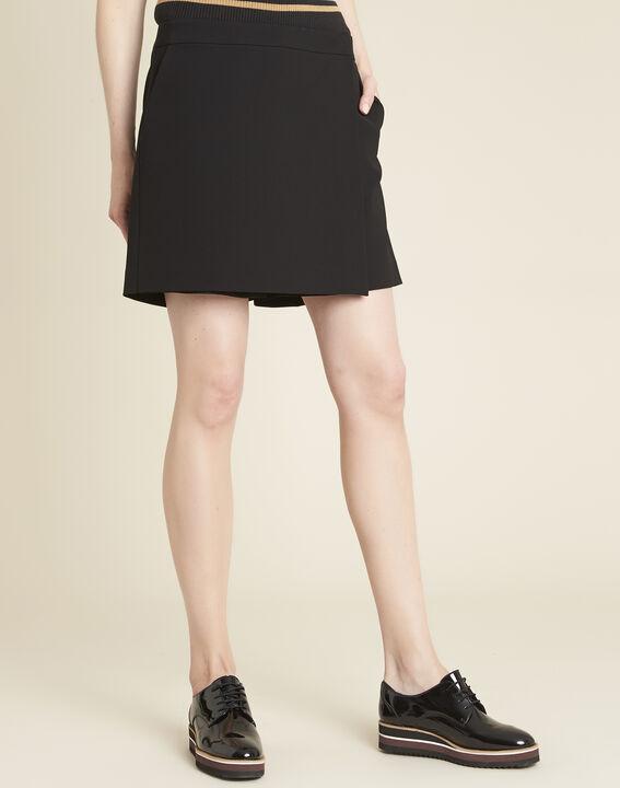 Heliot black microfibre short culottes PhotoZ | 1-2-3