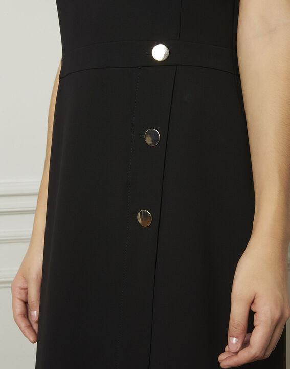 Robe noire détails boutons Lucia (4) - 1-2-3