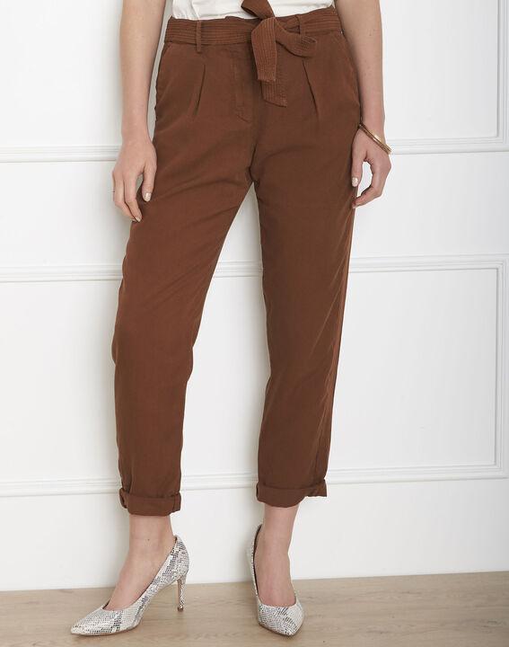 Pantalon marron fluide ceinture Geode PhotoZ | 1-2-3