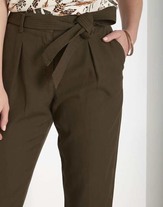 Pantalon kaki fluide ceinture Geode (4) - Maison 123