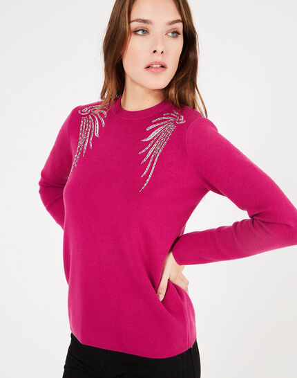 Prince dark fuchsia sweater with embroidery (3) - 1-2-3