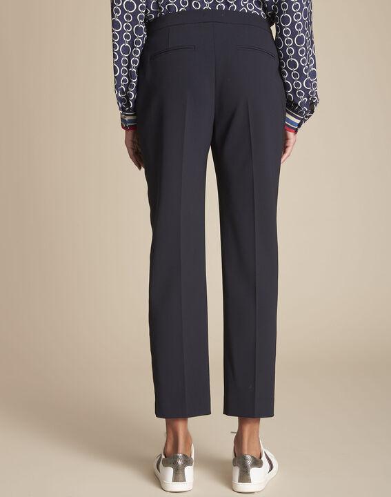 Marineblaue Damen-Anzughose mit Seitenstreifen Suzanne (4) - 1-2-3