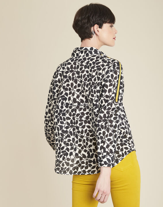 Cathleen white shirt with leaf print (4) - 1-2-3