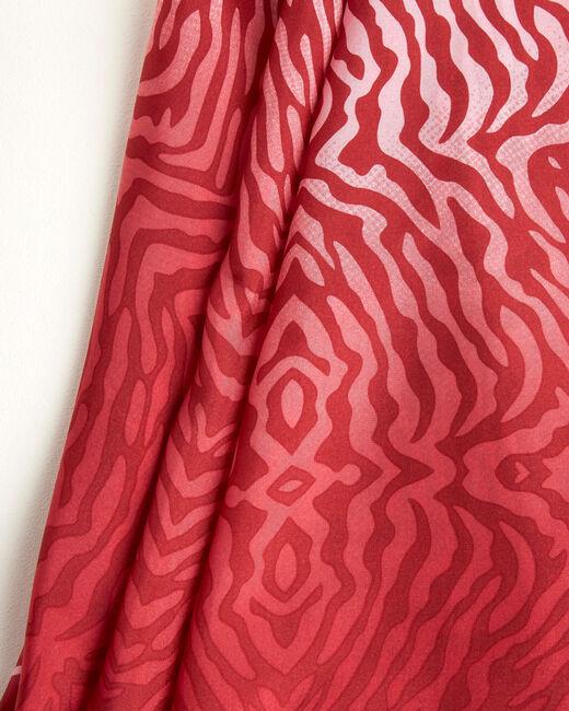 Rotes Seidenhalstuch mit Animal-Print Anouk (2) - 1-2-3