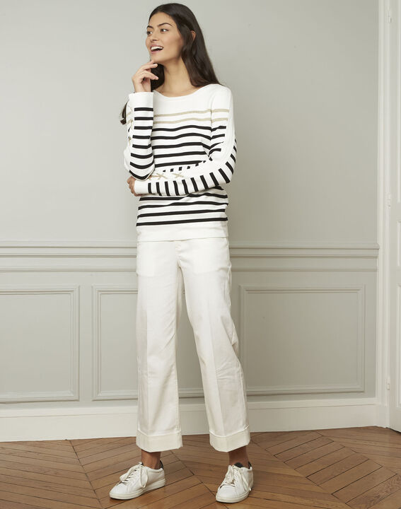 Amiral pullover with stripes and lacing details (2) - 1-2-3