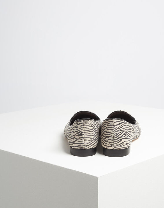 Kim leather zebra print ballerina pumps PhotoZ | 1-2-3