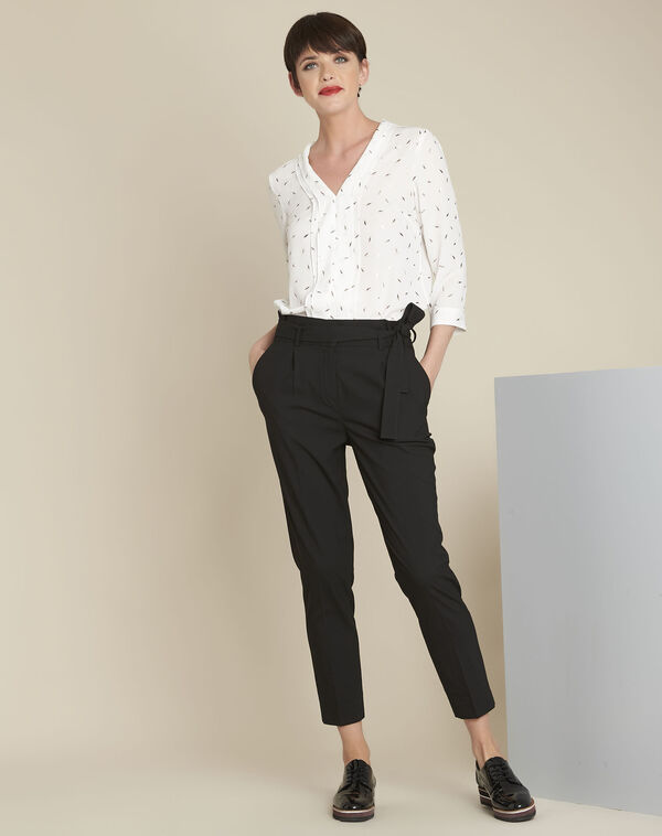 Hemy black belted trousers (2) - 1-2-3