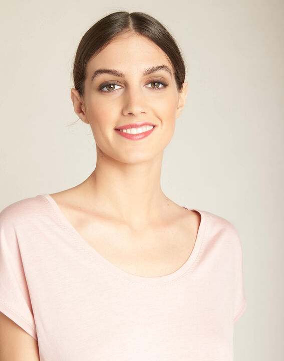 Eaven pale pastel T-shirt with low neckline (1) - 1-2-3