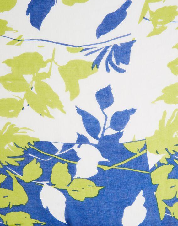 Foulard bleu roi imprimé Evana (2) - 1-2-3