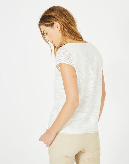 T-Shirt mit silbernen Streifen Baya (4) - 1-2-3