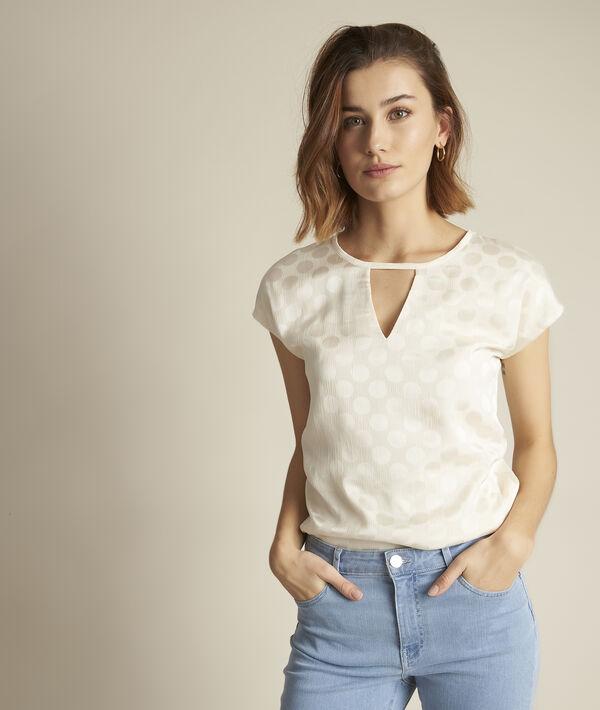 Tee-shirt bimatière à pois Rebecca PhotoZ | 1-2-3