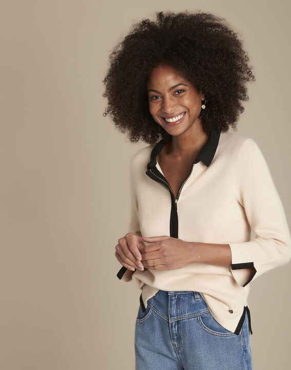 Pull beige milano col polo Formule PhotoZ | 1-2-3