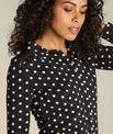 T-shirt noir à pois Laura PhotoZ | 1-2-3