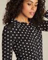 Schwarzes Tupfen-T-Shirt Laura (1) - 1-2-3