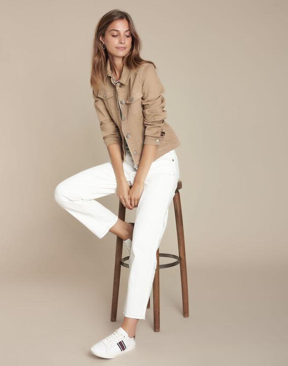Le Confort fit : jean vintage straight blanc Steven PhotoZ | 1-2-3