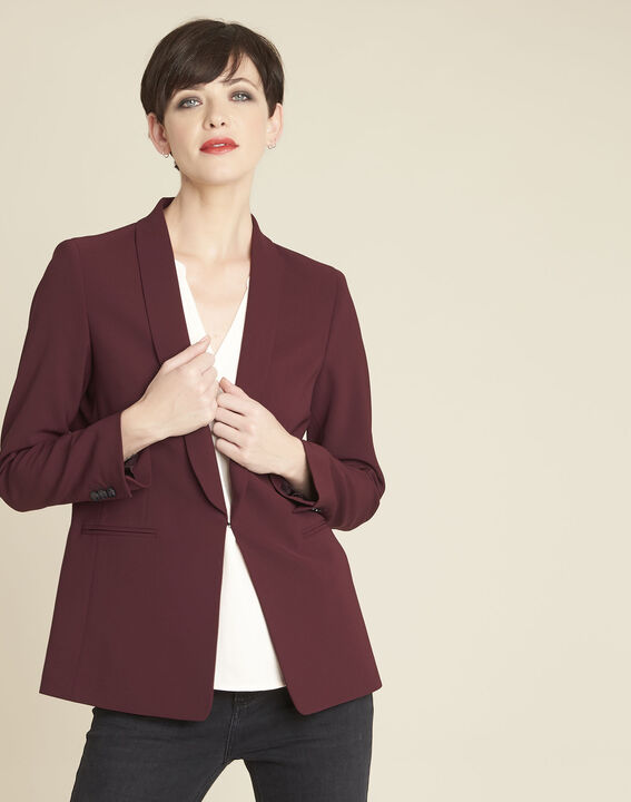 Stella red jacket in microfibre PhotoZ | 1-2-3
