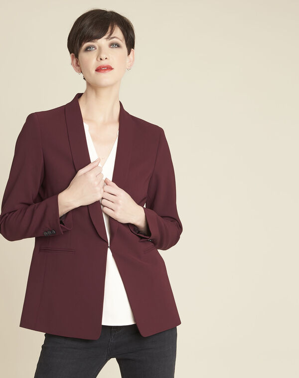 Stella red jacket in microfibre (1) - 1-2-3