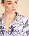 Ravel blue palm printed shirt in cotton (1) - 1-2-3