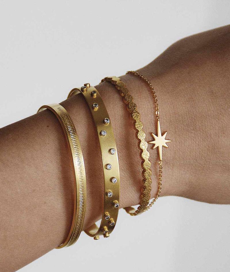 Bracelet jonc empreintes or Bijoux Léone PhotoZ   1-2-3