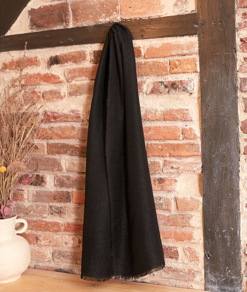 Foulard brillant noir hanais - 123 - Modalova
