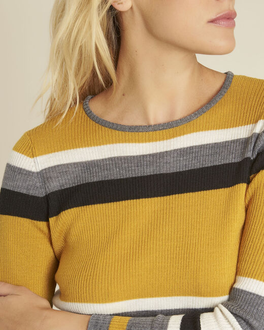 Bastien amber striped wool mix pullover (2) - 1-2-3