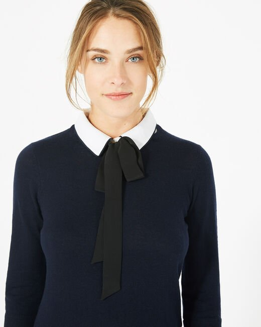 Pauline navy blue cashmere mix sweater (1) - 1-2-3