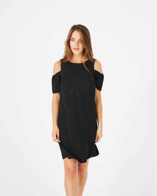 Robe noire détails brodés Gypsy (2) - 1-2-3