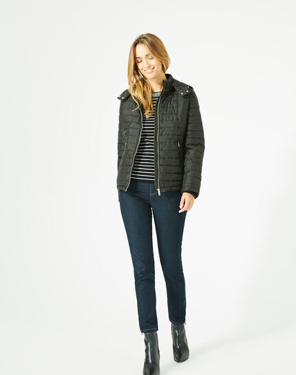 Louise black quilted jacket (2) - 1-2-3