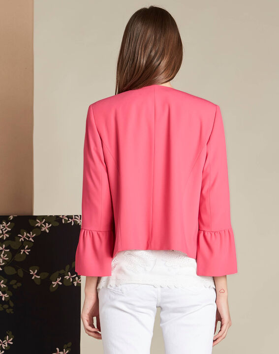 Clementine fuchsia jacket with frilled detailing (4) - 1-2-3