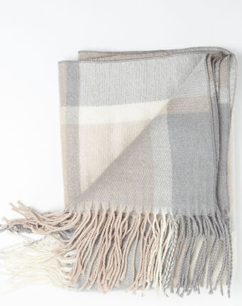 Fali nude checked scarf salmon.