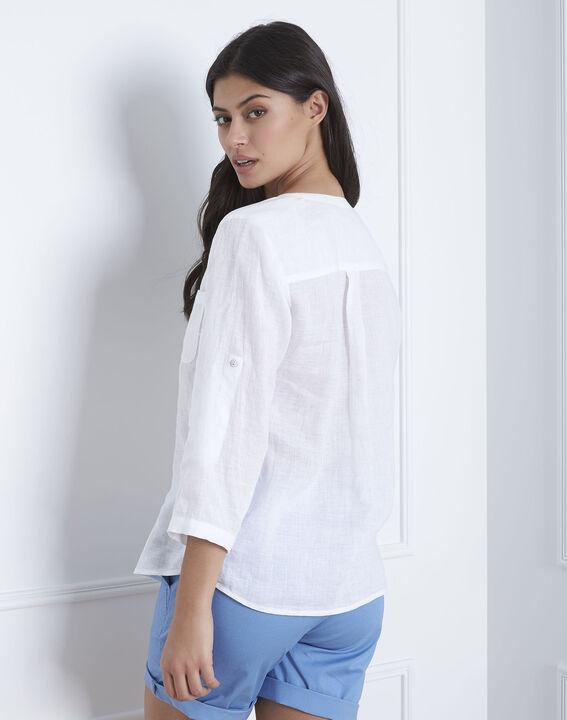 Chemise blanche en lin Roma (3) - Maison 123
