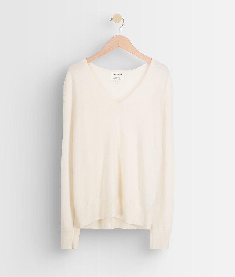 Ecru trui van recycled wol en kasjmier Tilda PhotoZ   1-2-3