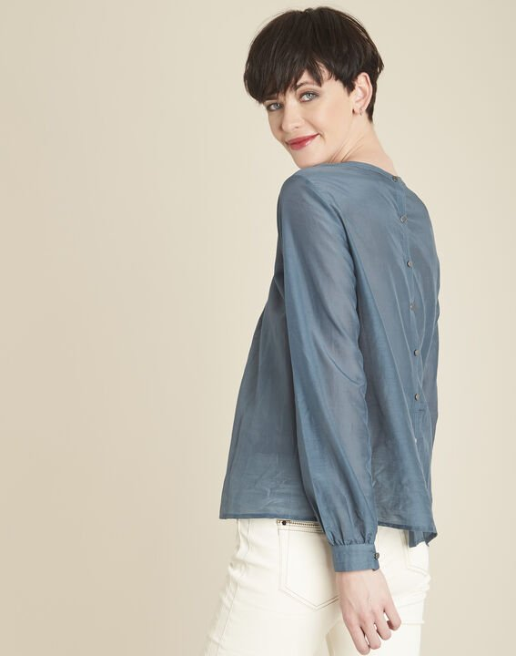 Carlota grey silk and cotton blouse (4) - 1-2-3