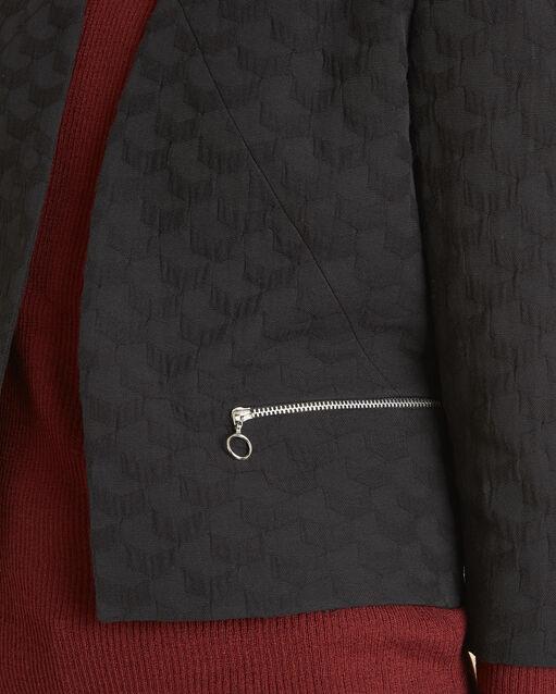 Veste noire reliefée détails zips Stan (2) - 1-2-3