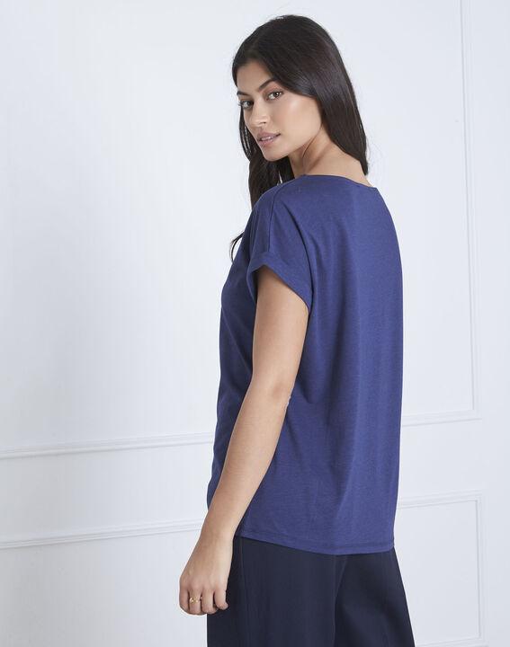 Tee-shirt bleu imprimé perroquet Petropolis (4) - Maison 123
