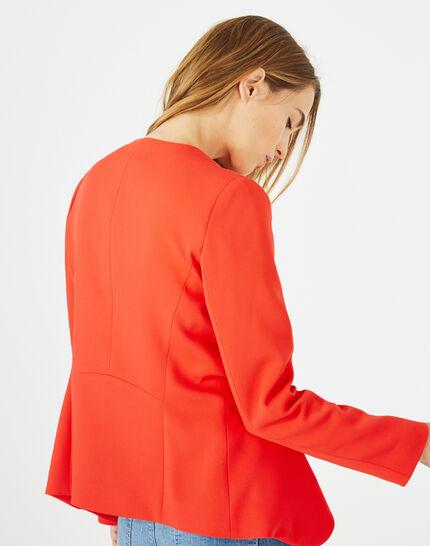 Veste rouge col tailleur Maite (5) - 1-2-3
