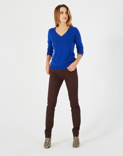 Schokoladenbraune Slim-Fit-Jeans William (1) - 1-2-3