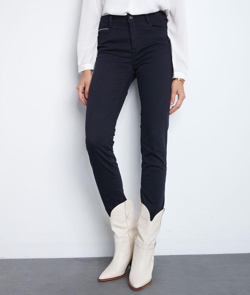 Die ikonische Slim Jeans aus Baumwollsatin marineblau Sultan PhotoZ | 1-2-3