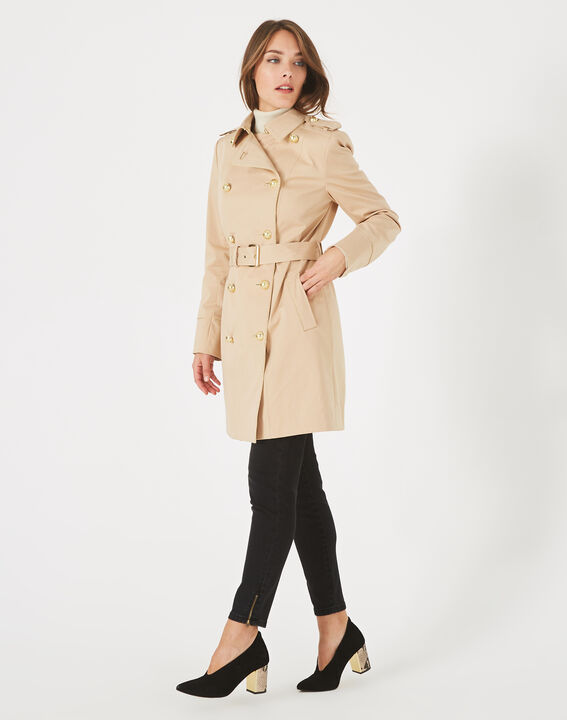Trench beige mi-long Julie (3) - 1-2-3