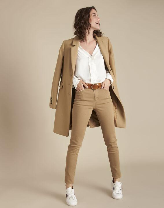 Manteau beige en laine Plume PhotoZ   1-2-3