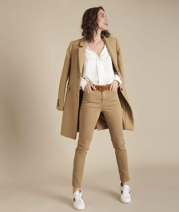 Manteau beige en laine Plume PhotoZ | 1-2-3