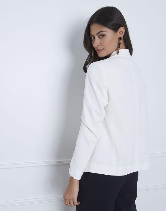Weiße Jacke mit Schal-Kragen Sabrina (4) - Maison 123