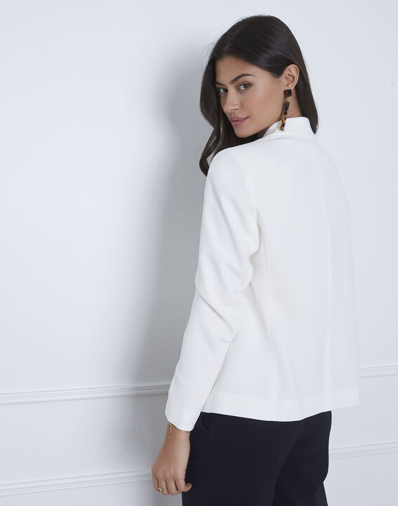 Veste blanche col chale Sabrina (4) - Maison 123