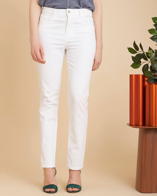Vendôme white slim-cut 7/8 length jeans (2) - 1-2-3