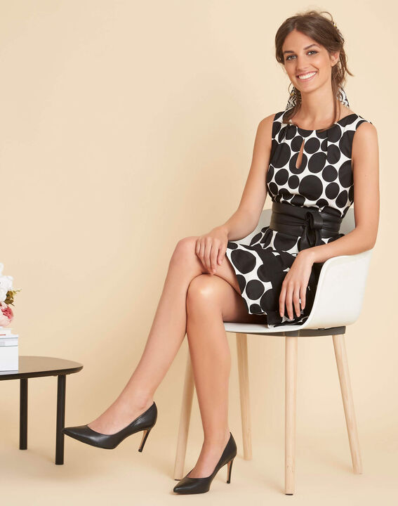 Isis black polka dot printed dress (2) - 1-2-3
