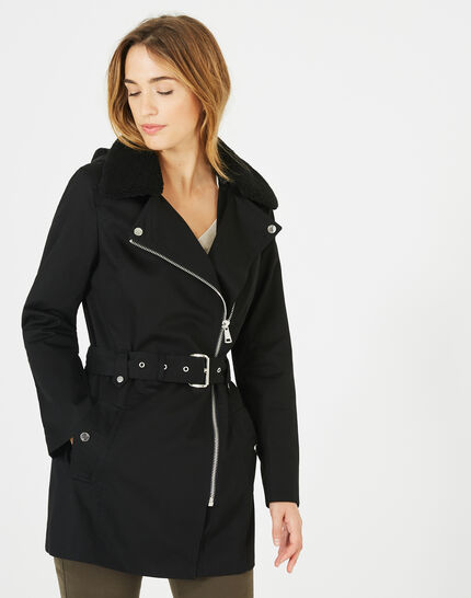 Jenna black long parka (1) - 1-2-3