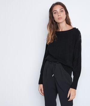 Zwarte trui van wol en kasjmier Tanguy
