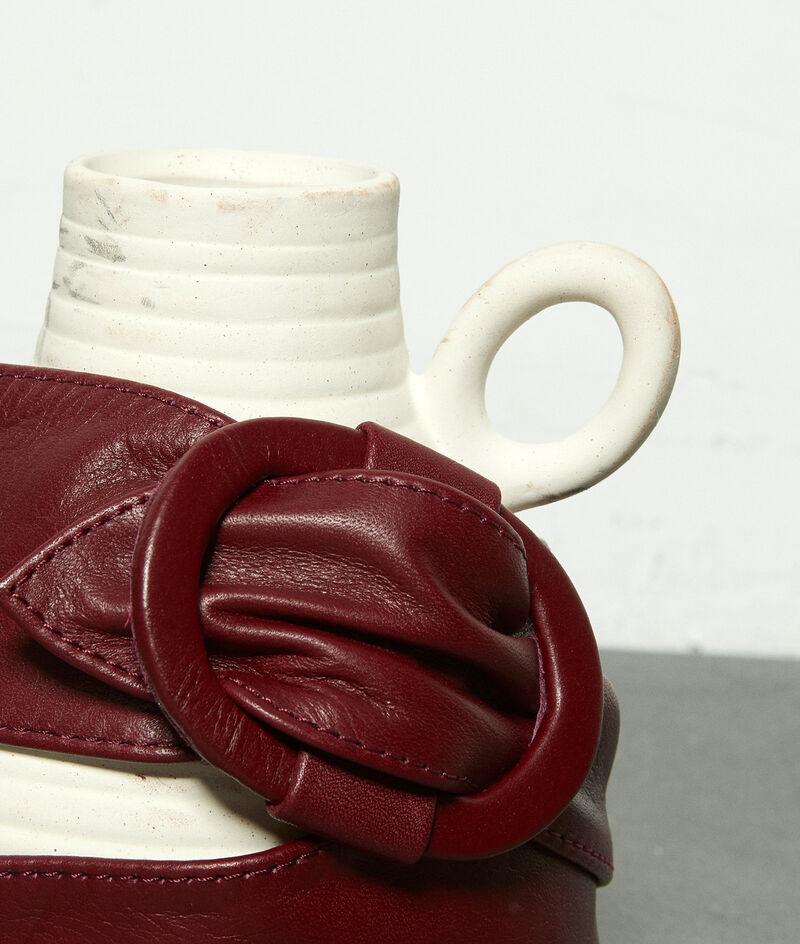 Ceinture large en cuir souple bordeaux Elya PhotoZ | 1-2-3