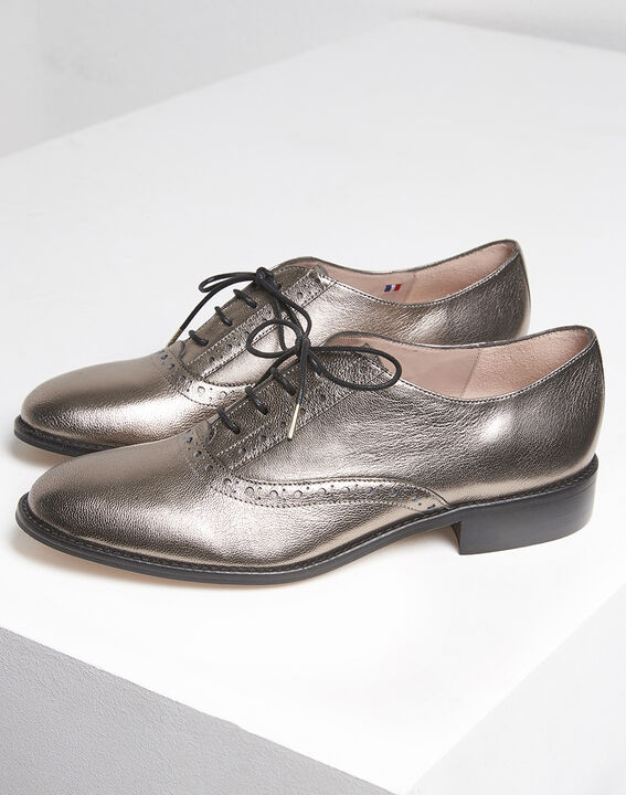 Lucinda rosewood leather Derbies (3) - 1-2-3