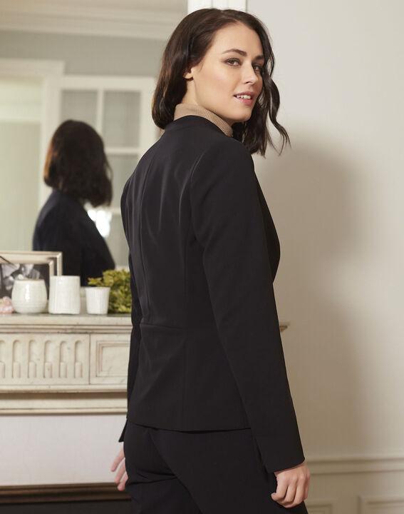 Majesté black collarless jacket (4) - 1-2-3